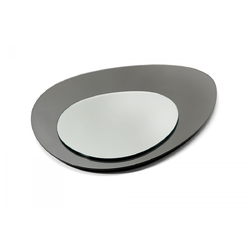 Clouds Wall Mirror Big 130X53 Silver/Fume'  Natuzzi Accessories