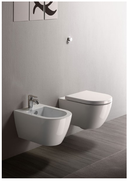wall-hung WC - Collection Pura by GSI Ceramica | Tilelook