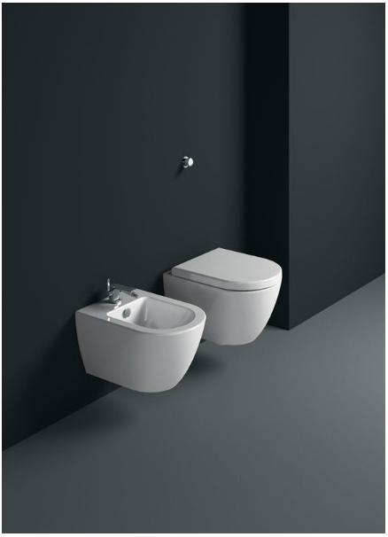 wall-hung bidet - Collezione Pura di GSI Ceramica | Tilelook