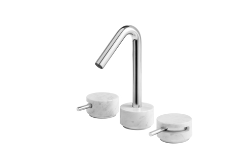 Mr392 three holes washbasin with short spout for Seresi arredo bagno camerano an