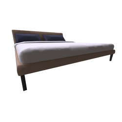 Diamante Bed L014 vers.L14 Natuzzi Diamante