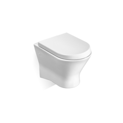 Nexo Vitreous china wall-hung WC with horizontal outlet Roca Nexo