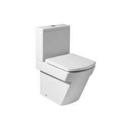 Hall WC Pan for Low Cistern Dual Outlet (600 Leng.) BTW Hall Compact back to wall vitreous china close-coupled WC with dual outlet Roca Hall