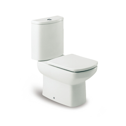 Dama Senso Vitreous china closed-coupled wc with dual outlet. P-Trap or S-Trap 305 mm. Roca Dama Senso