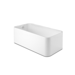 Element Rectangular free standing acrylic one piece bath   Roca Element