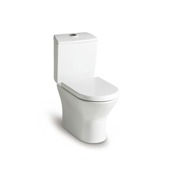 Nexo Vitreous china closed-coupled wc with dual outlet. P-Trap or S-Trap 305 mm. Roca Nexo