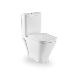 The Gap Vitreous china close-coupled WC with horizontal outlet Roca The Gap