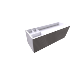 Meridian Base 1010 for Basin double 1250 Roca Meridian