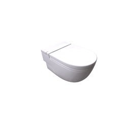 Meridian In-tank Wall-hung BTW 560 mm with L support, integrated cistern, seat and flap Roca Meridian