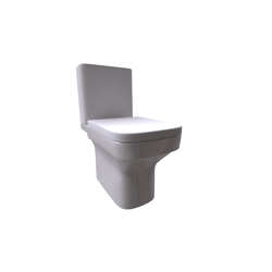 Dama Close-coupled WC Suite Horizontal Outlet with cover Roca Dama