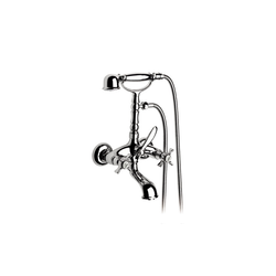 Florentina Outdoor bath-shower mixer with manual investor, hand shower, flexible 1.50 m. and support articulated shower Roca Florentina