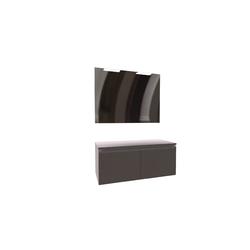 Heima Pack Furniture Base 1200 Luna mirror 1200 and 2 Smartlight 280 for Washbasin Khroma 400-550, Urban 400 Roca Heima