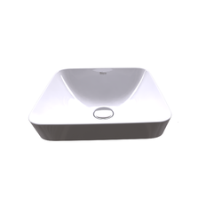 Inspira Square Semi Recessed Basin 370x370 H 75 mm Roca Inspira