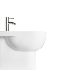Back to wall bidet with single tap hole. Simas E-Line