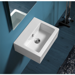 Hand washbasin 43 pre-punched for single tap hole. Simas Frozen