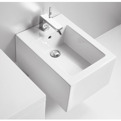 Wall hung bidet with single tap hole. Simas Frozen