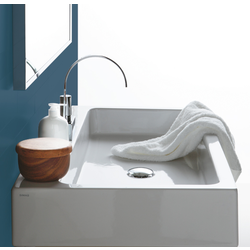 Washbasin 120 pre-punched for central/right/left tap hole, to be mounted on stand FZ/DUCG1 ? FZ A12. Simas Frozen