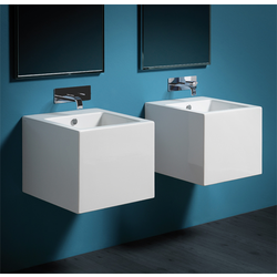Wall hung washbasin 50 pre-punched for single tap hole. Simas Frozen