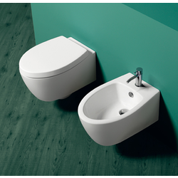 Wall hung bidet with single tap hole. Simas LFT Spazio