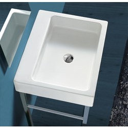 Washbasin 60 pre-punched for central tap hole to be mounted on stand FZ/DUCG1 ? FZ A06. Simas Frozen