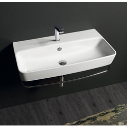 Wall hung console 90 with  single tap hole. Simas Degradè