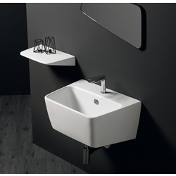 Wall hung washbasin 60 with  single tap hole. Simas Degradè