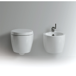 Wall hung bidet with single tap hole.  Simas Bohèmien