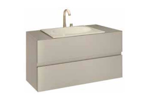 Bath furniture 1200 for 1 washbasin 77 - Collection Armani / Roca de Roca | Tilelook
