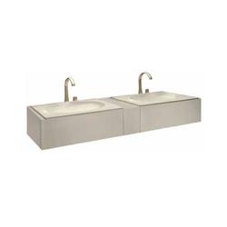 Bath furniture 1550 2 washbasins undercounter 61, top drawer Roca Armani / Roca