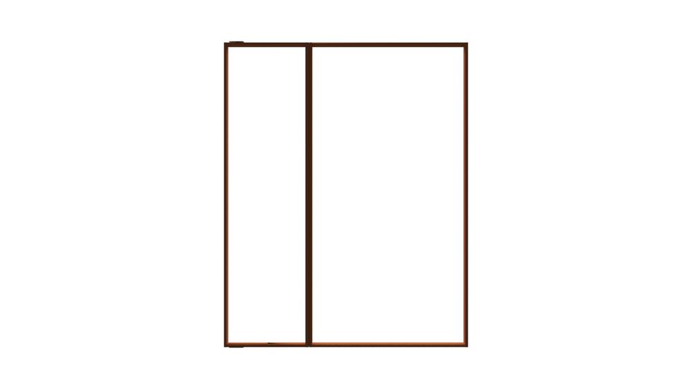 Door with fixed divider - Collection Armani / Roca de Roca | Tilelook