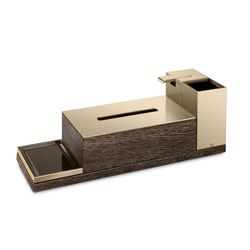 Beauty Set 4 elements (toothbrush c, dispenser, kleenex holder, soap h) - Collection Armani / Roca by Roca | Tilelook