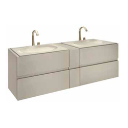 Bath furniture 1550 for 2 washbasins 65 Roca Armani / Roca