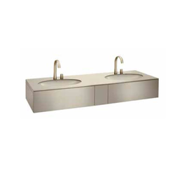 Bath furniture 1800 2 washbasins undercounter 61, top drawer Roca Armani / Roca
