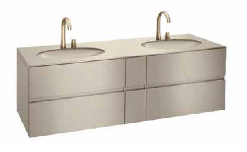Bath furniture 1800 2 washbasins undercounter bath furniture 61 - Collection Armani / Roca de Roca | Tilelook