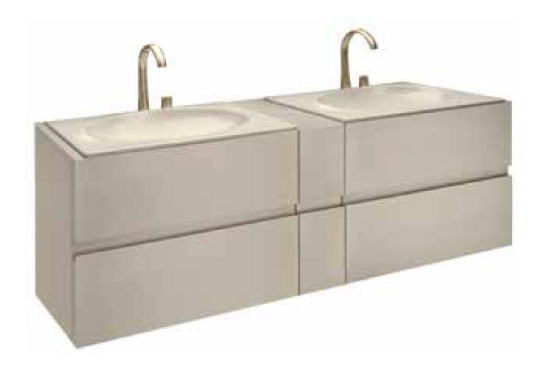Bath furniture 1800 for 2 washbasins 77 - Kolekce Armani / Roca od Roca | Tilelook
