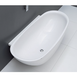 IO bathtub in Pietraluce with back to wall side IO70 3D Flaminia Io