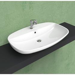 Nuda 85 countertop-wall hung basin with tap ledge 5081 Flaminia Nuda