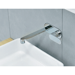 One concealed single lever basin mixer with plate 113058 Flaminia One