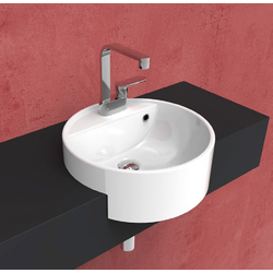 Twin Set 42 semi-inset single-hole basin 5054-42 Flaminia Twin