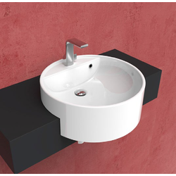 Twin Set 52 semi-inset single-hole basin 5054 Flaminia Twin