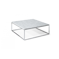 CABARET 90X90 H35 77/CARRARA WHITE MARBLE Natuzzi Coffee Tables