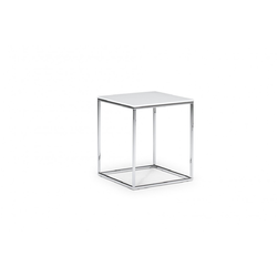 CABARET 45X45 H54 77/GLASS WHITE Natuzzi Coffee Tables