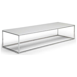 CABARET 160X50 H34 77/GLASS WHITE Natuzzi Coffee Tables