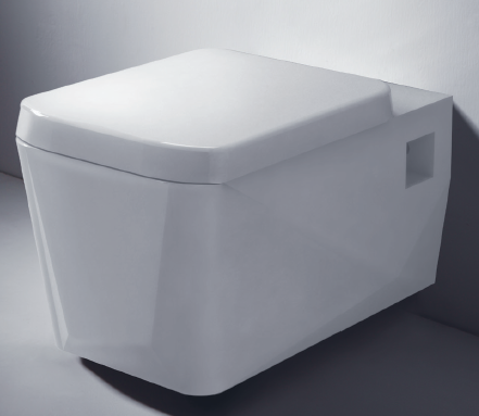 Wall hung toilet - Collection Diamond by Bravat | Tilelook