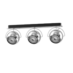 BELUGA STEEL D57 MULTIPLE WALL & CEILING LAMP 3 spots Fabbian Ceiling