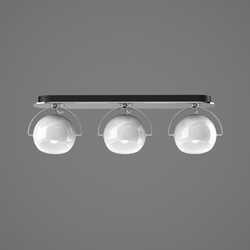 BELUGA WHITE D57 MULTIPLE WALL & CEILING LAMP 3 spots Fabbian Ceiling