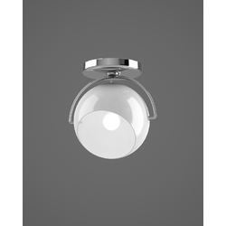BELUGA WHITE D57	SINGLE WALL & CEILING LAMP Fix Fabbian Applique