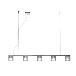 CUBETTO D28  5 SPOTS PENDANT LAMP Chrome structure Fabbian Pendant