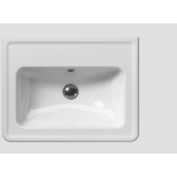 873111 Washbasin with overflow 60x50 classic GSI Ceramica Classic