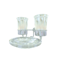 Twin Cup and Soap Holder Devon&Devon Bath Decors